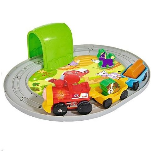 Simba Toys ABC - Gombnyomásra induló vonat fénnyel és hanggal (104018138)