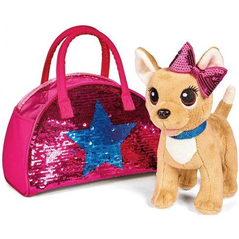 Simba Toys Chi Chi Love - Swap Fashion Csivava plüss kutya flitteres táskában (105893351)