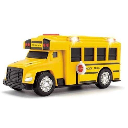 Dickie Toys Action Series - Iskolabusz fénnyel és hanggal 15cm (203302017)