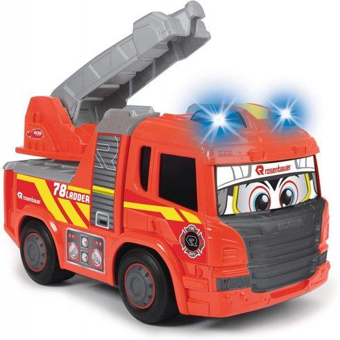 Dickie Toys Happy Series - Gombnyomásra induló tűzoltóautó fénnyel és hanggal kicsiknek 28cm (203814016)