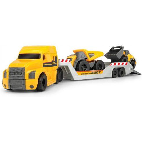 Dickie Toys Construction - Mack kamion Volvo munkagépekkel 32cm (203725005)