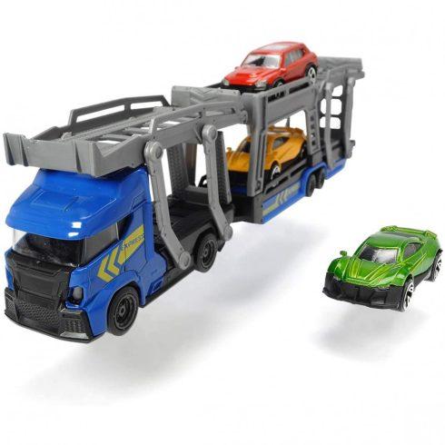 Dickie Toys City - Autószállító kamion kisautókkal 28cm - kék (203745008)