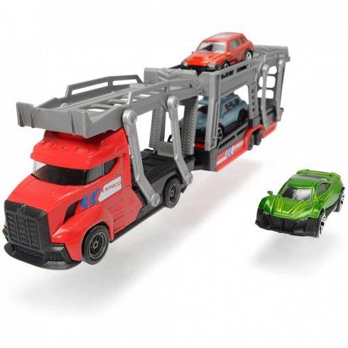 Dickie Toys City - Autószállító kamion kisautókkal 28cm - piros (203745008)