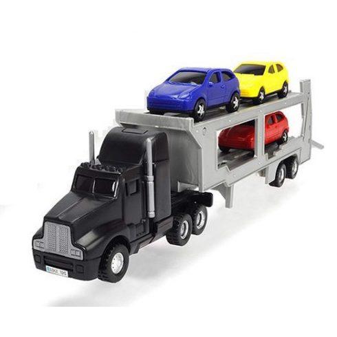 Dickie Toys City - Autószállító kamion kisautókkal 32cm - fekete (203746000)