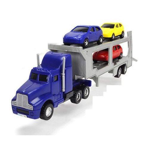 Dickie Toys City - Autószállító kamion kisautókkal 32cm - kék (203746000)