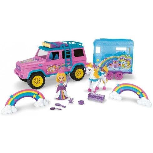 Dickie Toys Pink Drivez - Unikornis lószállító fénnyel és hanggal 42cm (203187000)