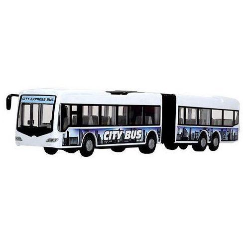 Dickie Toys City - Városi csuklós busz nyitható ajtókkal 46cm - fehér (203748001)