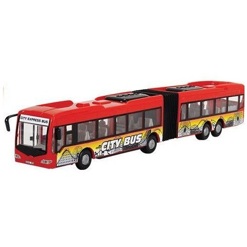 Dickie Toys City - Városi csuklós busz nyitható ajtókkal 46cm - piros (203748001)