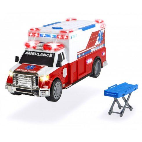 Dickie Toys Action Series - Gombnyomásra induló mentőautó fénnyel és hanggal 38cm (203308381)