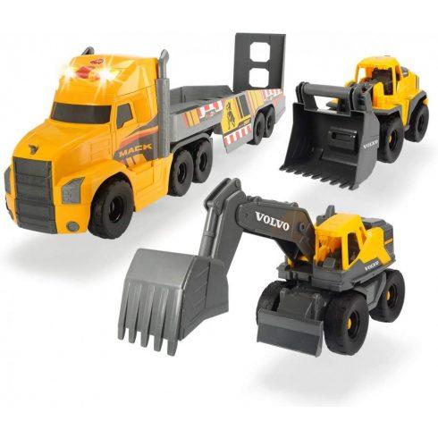 Dickie Toys Construction - Óriás Mack kamion Volvo munkagépekkel 70cm (203729012)
