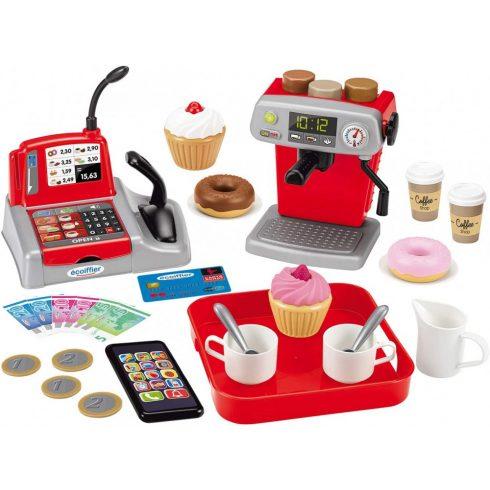 Écoiffier 100% Chef 2578 Kávézó pénztárgéppel