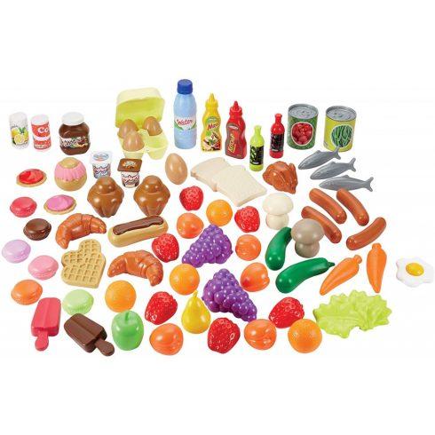 Écoiffier 100% Chef 2608 75 részes játék élelmiszerkészlet tárolódobozban
