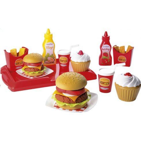 Écoiffier 100% Chef 2623 Játék hamburgeres tálca dobozban