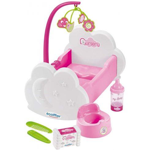 Écoiffier Nursery 2873 Bölcső játékbabáknak kiegészítőkkel