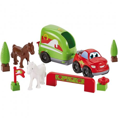 Écoiffier Abrick 3347 Lószállító autó lovakkal játékszett