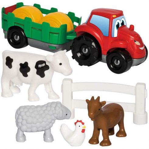 Écoiffier Abrick 3348 Traktor háziállatokkal játékszett