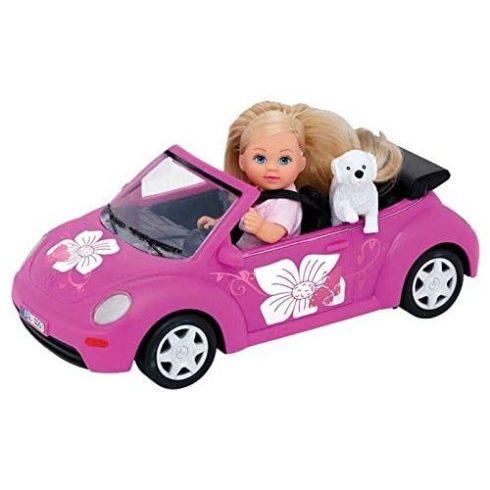 Simba Toys Evi Love - Evi baba VW Beetle autóval és kiskutyával (105731539)