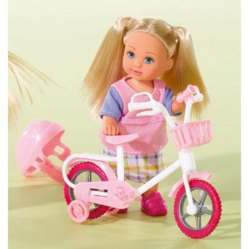 Simba Toys Evi Love - Evi baba fehér biciklivel (105731715)