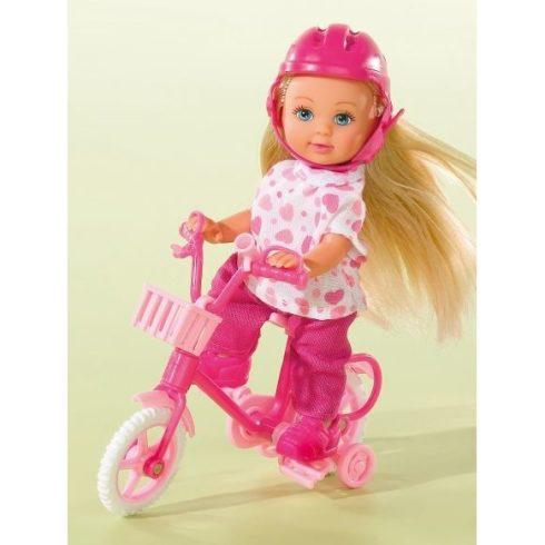 Simba Toys Evi Love - Evi baba rózsaszín biciklivel (105731715)