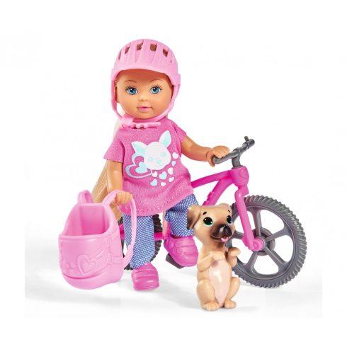 Simba Toys Evi Love - Evi baba biciklivel és kiskutyával (105733273038)