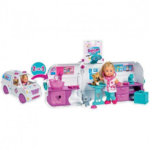 Simba Toys Evi Love - Állatorvos Evi baba mentőautóval (105733488)