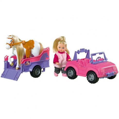 Simba Toys Evi Love - Evi baba lóval és lószállítóval (105737460)