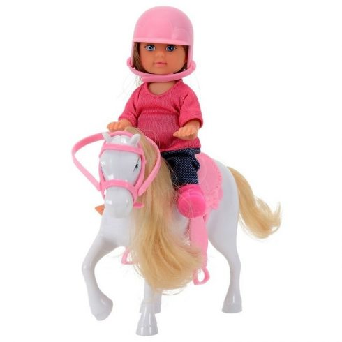 Simba Toys Evi Love - Evi baba fehér pónival (105737464)