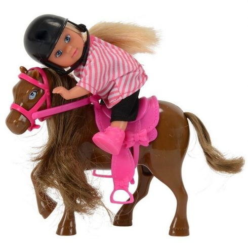 Simba Toys Evi Love - Evi baba sötétbarna pónival (105737464)