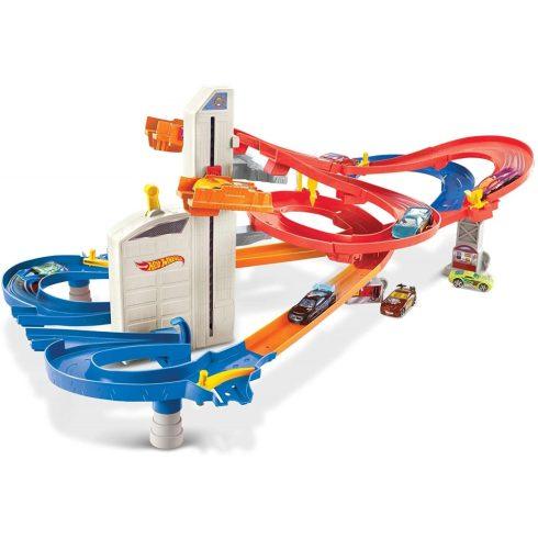 Mattel Hot Wheels FXN21 Dupla liftes autópálya kisautókkal