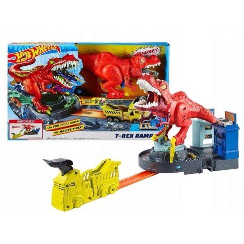 Mattel Hot Wheels GFH88 T-Rex zúzó pályaszett