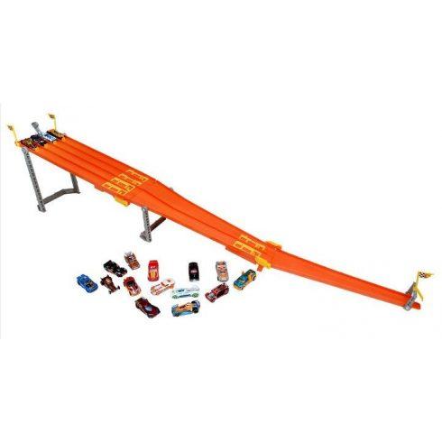 Mattel Hot Wheels Y7821 4 utas versenypálya 18db kisautóval