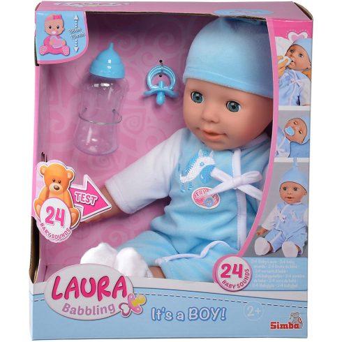 Simba Toys Laura - Beszélő interaktív fiú baba 38cm (105140178)