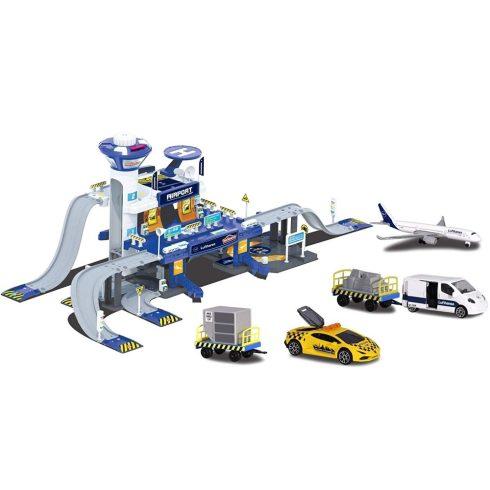 Majorette Creatix - Repülőtér autópálya járművekkel, fénnyel és hanggal (212050018038)