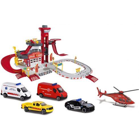 Majorette Creatix - Mentőállomás autópálya járművekkel (212050019)