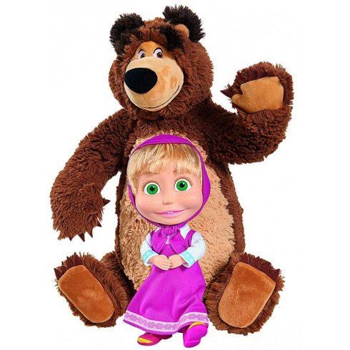 Simba Toys Mása és a medve - Mása baba és nagy plüss medve (109301016)
