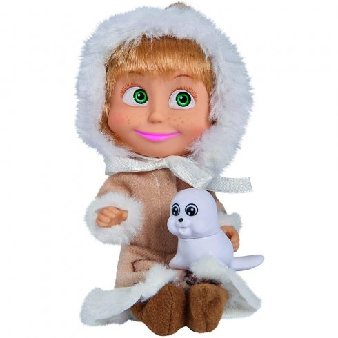 Simba Toys Mása és a medve - Mása baba eszkimó ruhában fókával (109301680)