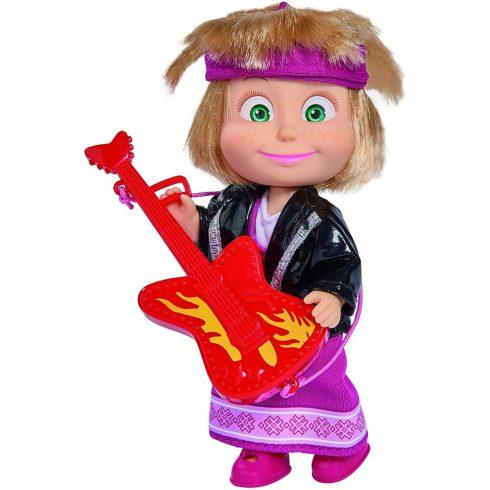 Simba Toys Mása és a medve - Mása baba rocker ruhában gitárral (109301680)