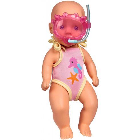 Simba Toys New Born Baby - Vízálló baba búvárszemüveggel 30cm (105030172)