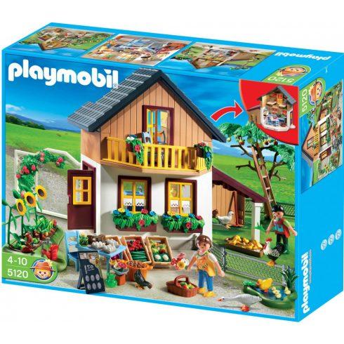 Playmobil 5120 Tanyasi ház bio árukkal és kis piaccal