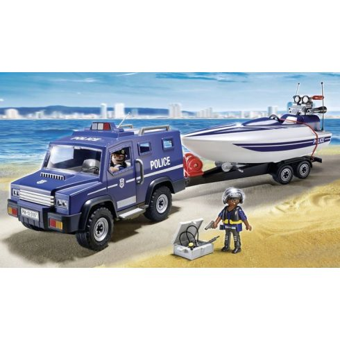 Playmobil 5187 Rendőrautó motorcsónakkal