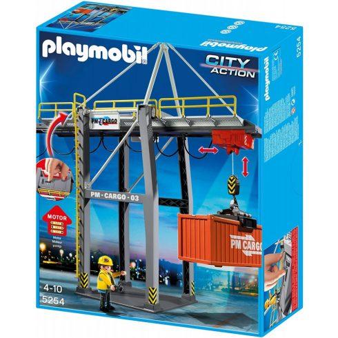 Playmobil 5254 Elektromos rakodóhíd konténerrel