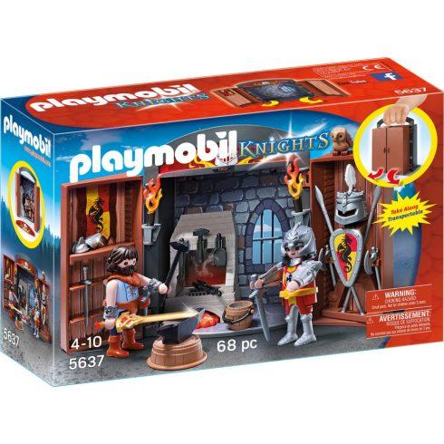 Playmobil 5637 Hordozható lovagi kovácsműhely