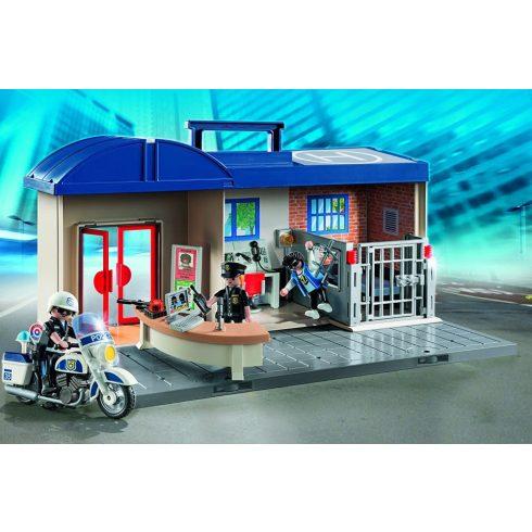 Playmobil 5689 Hordozható rendőrség börtönnel