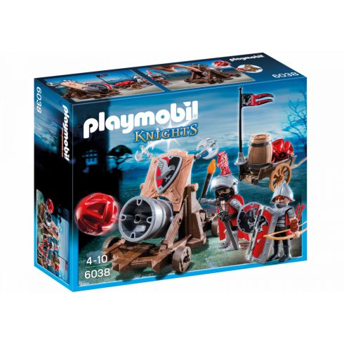 Playmobil 6038 Tűzgolyós faltörő sólyomlovagokkal