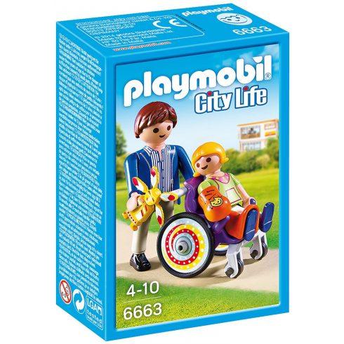 Playmobil 6663 Tolószékes gyermek apukával