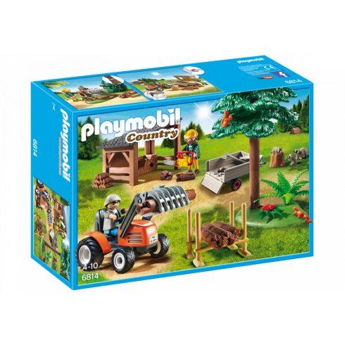 Playmobil 6814 Faszállító traktor