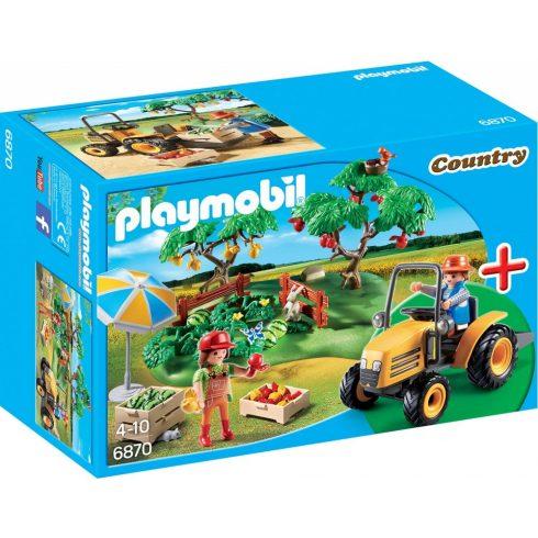 Playmobil 6870 Gyümölcsöskert traktorral