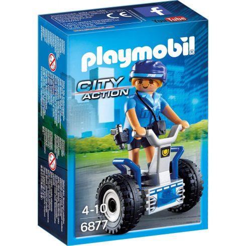 Playmobil 6877 Rendőrnő kétkerekű járgánnyal