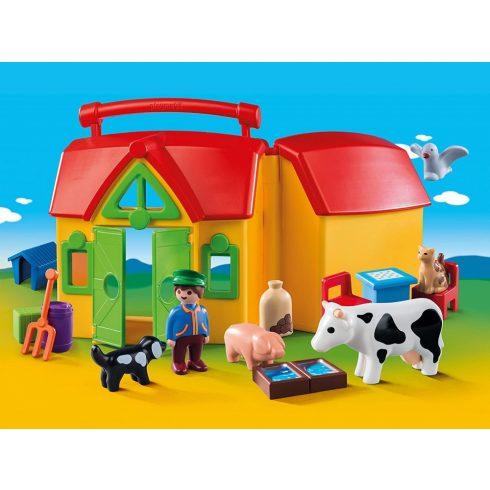 Playmobil 6962 1.2.3 Hordozható tanyácskám