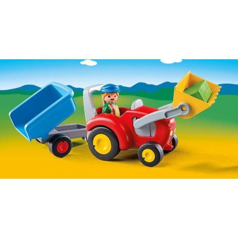 Playmobil 6964 1.2.3 Pali bácsi traktoron
